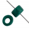 Ceramic Bead Cylinder 6X4mm Teal
